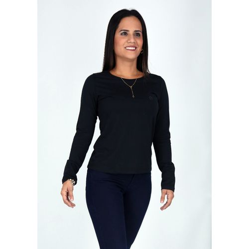 TAHIRT-BASIC-DAMA-CO-ML-NEGRO